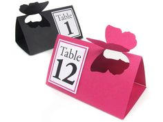 Butterfly Table Tent Handmade Freestanding Wedding Table Numbers