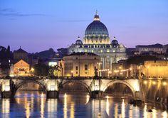 Vatican City at night