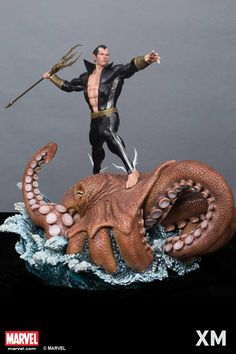 The King of the Seven Seas, Sub-Mariner, Lord of the Seven Seas has never been more majestically presented! Due to the large size and foot print (almost 27kg!), we are only producing 388 ES of this beauty, one of the lowest ES of our Marvel line yet. Retail price at SGD1,050 and open for PO on our page on the Friday 17th Feb 2017 at 00:00 Singapore Time Zone (Remember it is the Thursday Midnight leading to Friday morning). Sculpted by the incredible Avi AY Sculpture.