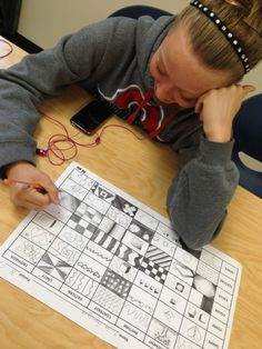 Elements and principles design matrix: Smart idea to combine the two into one assignment.