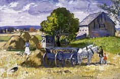 Farm in Essex - Gifford Beal - American Painter 1879 AD - 1956 AD