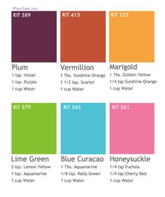 RIT dye color combinations-for my boring purse!