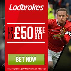 Get a £/€50 free bet with our Ladbrokes free bet code.