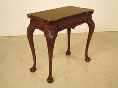 22541E: Chippendale Ball -N- Claw Mahogany Flip Top Games Table by StenellaAntiques on Etsy
