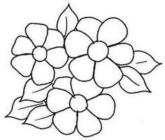 riscos de flores para aplicação em tecido - Pesquisa Google