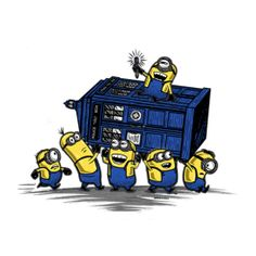 Get This Parody Doctor Who / Minions / Despicable Me Design now at TeeFury.com! Available in Men and Women's sizes.