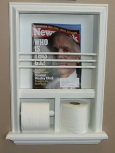 Mr 17 Solid Wood Recessed In The Wall Bathroom Magazine Rack Toilet