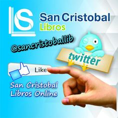 San Cristobal Libros en #Twitter y #Facebook.. Síguenos en nuestras redes y entérate de las novedades.