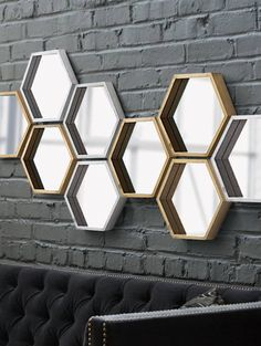 Gold Hive Mirror