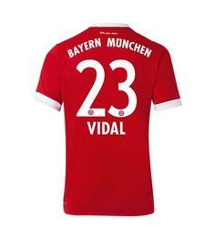 Billiga Bayern Munchen Arturo Vidal 23 Hemmatröja 17-18 Kortärmad Thomas Muller, Munich, Ronaldo, Football, Sports, Tops, Fashion, Bavaria, Soccer