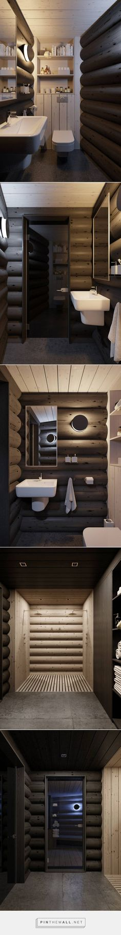bathroom in a wooden house bathroom in a wooden # f . House Plans Mansion, Pool House Plans, Small House Plans, New Modern House, Modern House Plans, Cosy House, Pole Barn Homes, Cabin Interiors, Exterior House Colors