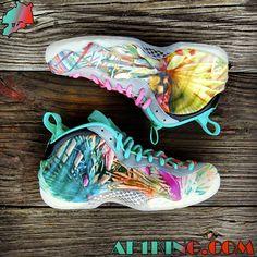 "Nike Air Foamposite One – ""305 Miami Beach"" Customs | By GourmetKickz"