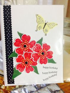Birthday butterfly greeting card by Viviansgreetings on Etsy