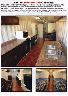 I would do this rather than a traditional storm shelter! 40 ft underground bunker from a shipping container Underground Shelter, Underground Homes, Survival Shelter, Survival Prepping, Emergency Shelters, Emergency Preparedness, Container Conversions, Bomb Shelter, Safe Room