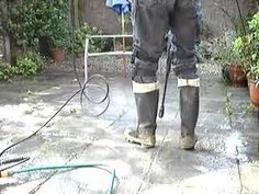 Jetwashing in wellington boots