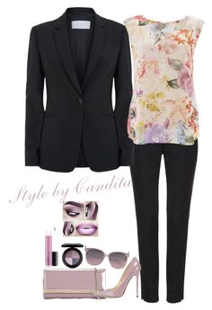 """""""Office Chic V"""" by stylebycandita ❤ liked on Polyvore featuring HUGO, Wallis, Jimmy Choo and MAC Cosmetics"""