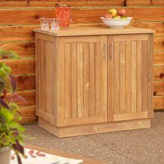"""36"""" Artois Teak Outdoor Kitchen Cabinet - Outdoor Furniture - Outdoor"""