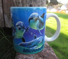 Microsoft Underwater Scene Coffee Mug | the Dolphins Collectionary