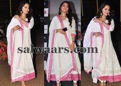 Anushka at Bahubali Trailor Launch - Indian Dresses
