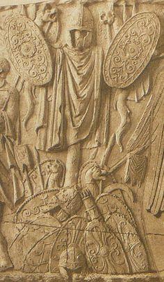 057 Conrad Cichorius, Die Reliefs der Traianssäule, Tafel LVII (Ausschnitt 02) - Dacian warfare - Wikipedia, the free encyclopedia