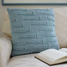 """""""Step in Time"""" Pillow knitting pattern by Fifty Four Ten Studio on Ravelry. Quick & easy knitting pattern! Super bulky yarn."""