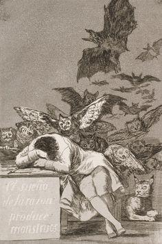 Francisco José de Goya y Lucientes - The sleep of reason produces monsters (c. 1799)