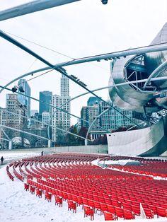 Millennium Park, Jay Pritzker Pavillion, Chicago Photography, City Photography, Chicago Prints, Chicago Wall Art, Winter, Snow, Skyline
