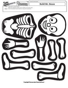 skeleton lesson for kids bones \ bones lesson for kids ; dry bones lesson for kids ; skeleton lesson for kids bones ; bones lesson plans for kids Body Preschool, Preschool Science, Preschool Lessons, Lessons For Kids, Science Fun, Halloween Decorations For Kids, Halloween Themes, Halloween Crafts, Imprimibles Halloween