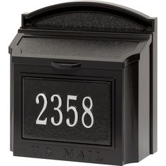 Whitehall Products Personalized Wall Mounted Mailbox with Custom Address Plaque