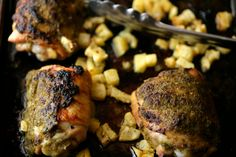 NYT Cooking: Rum and Chili Roasted Chicken Thighs With Pineapple