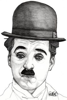 Charlie Chaplin - Original Signed Paul Nelson-Esch Drawing Art Pencil Illustration Fashion Home Decor Decoration House Interior Xmas Comedy by PaulNelsonEschArt on Etsy Dark Art Drawings, Art Drawings Sketches Simple, Graphite Drawings, Pencil Art Drawings, Drawing Art, Horse Drawings, Colour Pencil Drawing, Pencil Sketches Of Faces, Realistic Pencil Drawings