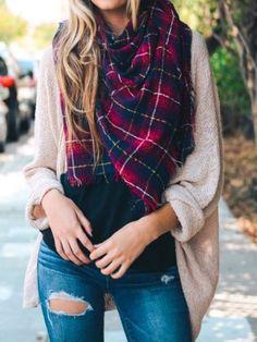 plaid scarf | camp story | sassyshortcake.com