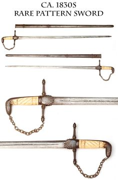 Rare Pattern Staff or Infantry Militia Officer's Sword Ca. 1830's