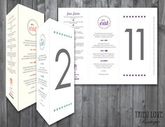 Wedding Menu Table Number Fun Facts Instagram by TrieuLoveBoutique, $39.00