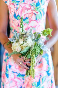 lilly print bridesmaids