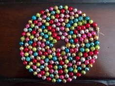 vintage multicolor mercury glass christmas garland by patinapatina - Christmas Bead Garland