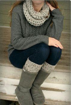 Queda genial las botas con calzetas! Ya sabes para este invierno!