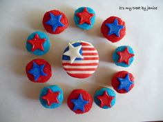 Independence day Cupcakes Decorating Ideas