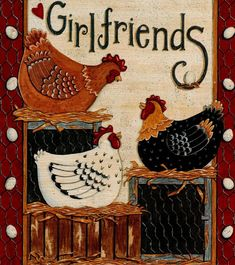 love this for side of cupboards Chicken Signs, Chicken Art, Rooster Art, Rooster Decor, Arte Do Galo, Chicken Quilt, Farm Quilt, Country Chicken, Chicken Crafts
