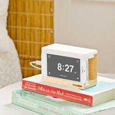 iPhone Snooze Alarm Clock White