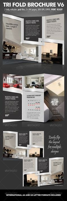 16 pages corporate profile brochure graphicriver 16 pages for Interior brochure designs