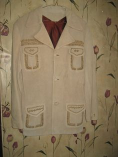 awesome 1950s western  hand painted hand by Linsvintageboutique, $100.00