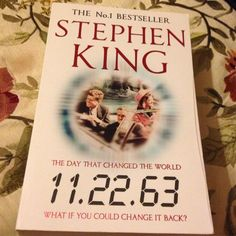 Finished 11.22.63 by Stephen King - time travel book that holds together well. About #JFK and life in the 60s. June15