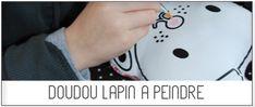 pöm: Doudou Lapin à peindre D.I.Y
