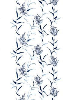 Kaisla curtain blue 7 by Saara Eklund   Cotton 83%, polyester 17%