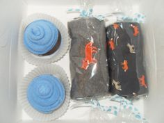 Baby Boy Shower Gift Washcloth Cupcakes Gift Box by babydelights1, $17.99