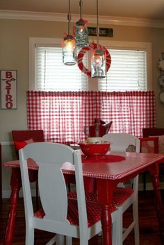 In The Eye Of The Beholder.. cafe curtains for the Apartment..LOVE IT