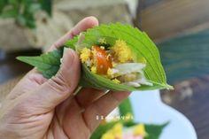 깻잎쌈 샐러드 한쌈씩 들고 먹어요.텃밭요리 : 네이버 블로그 Guacamole, Mexican, Cooking, Ethnic Recipes, Food, Kitchens, Food Food, Kitchen, Essen