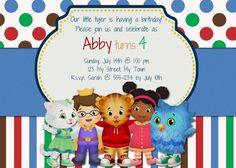 Daniel Tiger's Neighborhood Birthday Invitation by MyBabiesBreath, $8.00