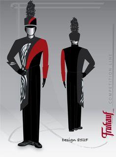 Design Gallery - All - Fruhauf Uniforms, Inc - Fruhauf Uniforms, Inc Marching Band Shows, Marching Band Uniforms, Drum Corps International, Uniform Design, Collor, School S, Military, Contemporary, Superhero
